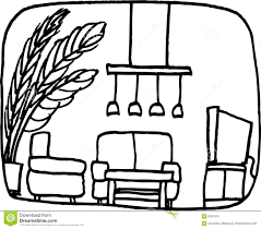 living room stock vector illustration of sofa flower 6391915