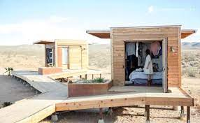 104 Mojave Desert Homes Group Of Three Tiny Cabins In The