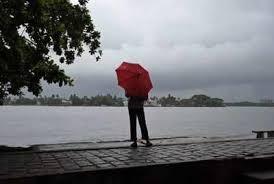 A Man Stands By The Arabian Sea Coast As It Drizzles In Kochi AP
