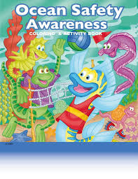 Ocean Safety Awareness Childrens Coloring And Activity Book