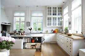 Traditional Country Kitchen Decorating Ideas With Sustainable Furniture Comely White Plus Laminate Floor