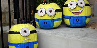 Minion Pumpkin Carvings by Deck Your Home With These Hassle Free U201cno Carve U201d Minions Pumpkins
