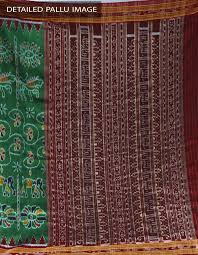 Online Shopping For Carpets by Wedding Green Pure Sambalpuri Silk Saree For Online Shopping Unm21701