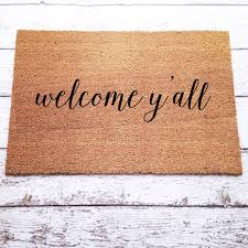 Welcome Yall Doormat Door Mat Hand Painted Large By LoRustique