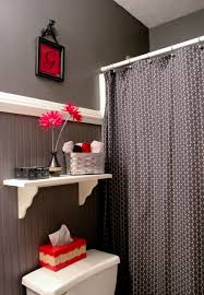 Yellow And Grey Bathroom Window Curtains by Gray Black And Red Bathroom Bathroom Ideas Pinterest Gray
