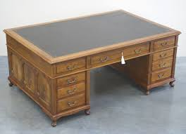 Antique Mahogany Partners Desk 1019 For Sale