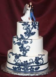 navy blue and grey flowers