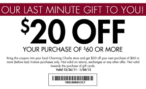 Charming Charlie $20 Off $60 Printable Coupon (Expires Jan ... Charming Charlie Printable Coupons 96 Images In Collection Bogo Jewelry Sale Prices Start At 299 Its Finally Football Season We Want Charm Club Mingcharliecom Nicks Sticks Discount Code Buildabear Dtown Disney Paisley Grace Coupon Competitors Revenue And Employees Owler By Mz Sony Vaio Coupons E Series Do You Shop With Groupon Apple Moms The Hudson Up To 50 Off Store Closing New Disney Is Just