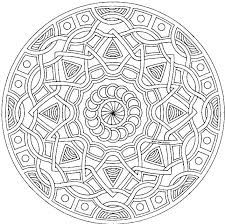 Adult Mandala Coloring Pages Printable Detailed Geometric Style Pattern Pictures