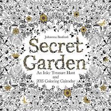 Secret Garden 2016 Wall Calendar By Coloring Book Best Seller Johanna Basford 15