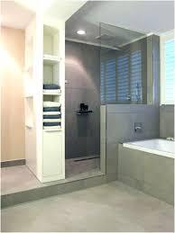 begehbare dusche gemauert dusche fliesen graue fliesen