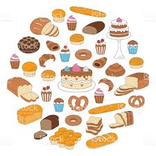 Bakery and pastry collection doodle vector illustrations isolated on white royalty free bakery and