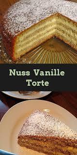nuss vanille torte mit vanillepudding lebensmittel