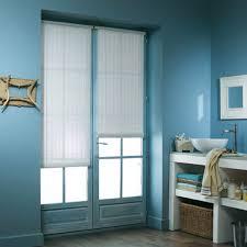 rideau store pas cher store enrouleur bois tissé blanc h 180 à 220 cm castorama