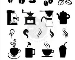 Coffee Silhouettes Clipart coffee clipart coffee silhouettes silhouettes clipart digital