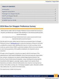August New Car Shopper Preference Survey - PDF