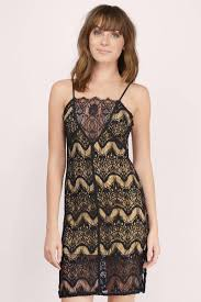trendy black dress lace slip dress beige lace dress shift