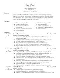 Sample Mechanic Resume Objective Auto Examples Download Example Car