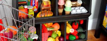 build a toy storage bin toy emporium diy play food organizer
