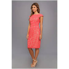 adrianna papell women u0027s lace sheath dress dresserer