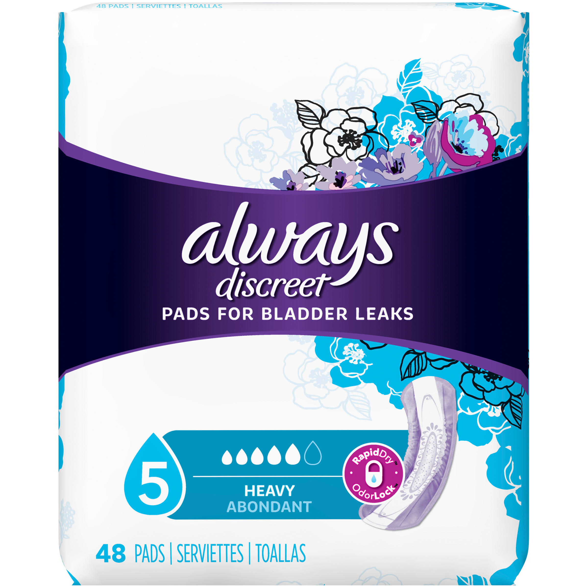 Always Discreet Maximum Pads - Regular Length, 48pk