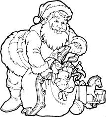 Santa Claus Kids Coloring Pages And Free Colouring Pictures To Print