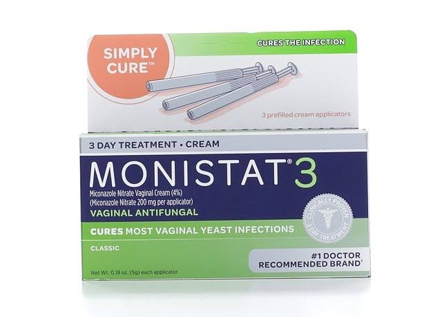 Monistat Simple Cure Vaginal Antifungal 3-Day Treatment Cream - 3ct