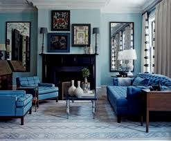 blue sofa in living room size of recliners chairs u0026
