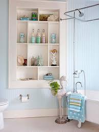 Small Wood Shelf Plans by Bathroom Interesting Open Plan Wooden Shelves Glass Flower Vase