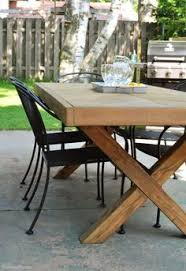 Build This DIY Outdoor Table Featuring A Herringbone Top And X Brace Legs Would Also Make Great Rustic Dining Room