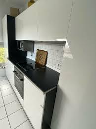 ikea küche in schwarz weiß inklusive elektrogeräte