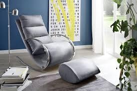 relaxsessel mit hocker grau