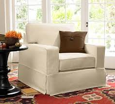 Chair And Ottoman Covers by Chair Slipcovers Pottery Barn