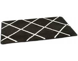 badematte masche schwarz weiß 60 x 100 cm