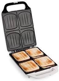 familien sandwich toaster 4er dom sandwichmaker mit muschelform backel für ideale backergebnisse