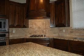 Kitchen Backsplash Ideas Dark Cherry Cabinets by Beautiful Kitchen Dark Custom Cabinets Tumbled Marble Backsplash