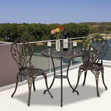 Outdoor Patio Furniture, European Style Cast Aluminum Outdoor 3 Pcs Patio  Bistro Set Of Table And Chairs With Ice Bucket Bronze For Backyard Pool ... Outdoor Chairs Set Of 2 Black Cast Alinum Patio Ding Swivel Arm Chair New Elisabeth Cast Alinum Outdoor Patio 9pc Set 8ding Details About Oakland Living Victoria Aged Marumi In 2019 Armchair Cologne Set Gold Palm Tree Outdoor Chairs Theradmmycom Allinum Fniture A Guide Alinium Rst Brands Astoria Club With Lawn Garden Stools Bar Modway