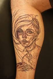 Geometric Tattoo Leg Ideas