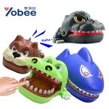 Yobee Creative Novelty Prank Dentist Bite Finger Interactive Board Game Shark Dinosaur Joke Toys Party