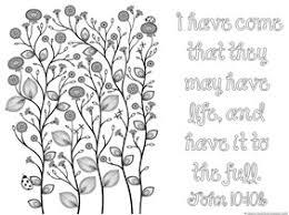 Spring Bible Verse Coloring 3