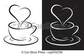 Coffee Cup With Heart Symbol