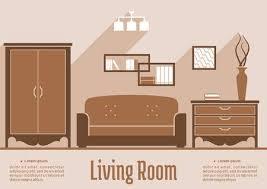 wohnzimmer interieur in braun beige und weiß mit sofa