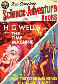 The Time Machine Was Reprinted In Two Complete Science Adventure Books 1951