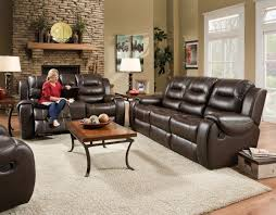 Wall Hugging Reclining Sofa by Corinthian Jamestown Umber Reclining Sofa And Loveseat My