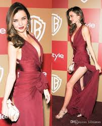 Evening Dresses Red Carpet by Deep V Neck Red Carpet Prom Dresses Split Evening Dresses