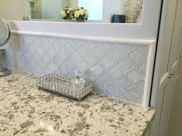 Crackle Glass Bathroom Set by Roman Frosty Morning Arabesque Glass Tile