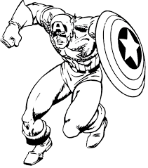 Captain America Coloring Page Printable Pages Me Free For Kids
