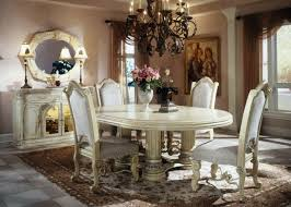 European Dining Room Furniture White Classic Design Ideas With Antique Lighting Table Lamp And Mirror