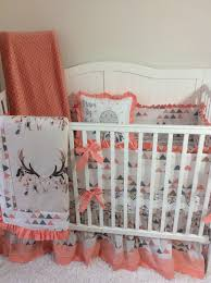 Navy And Coral Crib Bedding by A Personal Favorite From My Etsy Shop Https Www Etsy Com Listing