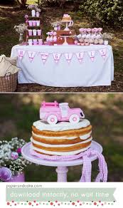 100 Truck Wedding Cake Pink Vintage Pickup Printable Party Paper And Paper And